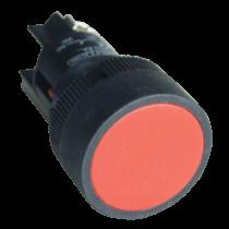 Tracon Nyomógomb, műanyag testű, piros, NYGEA145P