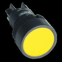 Tracon Nyomókapcsoló, műanyag testű, sárga, NYGEH155S
