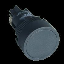 Tracon Nyomógomb, műanyag testű, fekete, NYGEA125