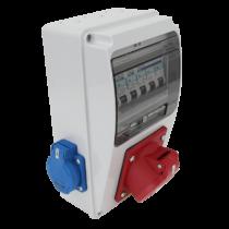 Tracon Ipari elosztó doboz, TDB01-6MV, védelemmel, vezetékezett, készre szerelt