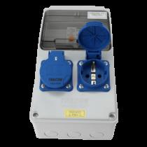 Tracon Ipari elosztó doboz, TDB02-6MV, védelemmel, vezetékezett, készre szerelt