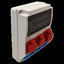 Tracon Csatlakozó doboz, TDB03-12MV, védelemmel, vezetékezett, készre szerelt