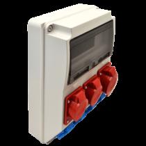Tracon Ipari elosztó doboz, TDB03-12M, védelem nélkül