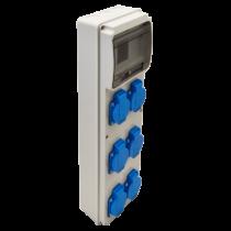 Tracon Ipari elosztó doboz, TDB05-6M, védelem nélkül