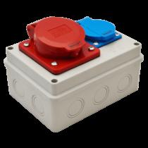 Tracon Csatlakozó doboz, TDB06-0M, védelem nélkül