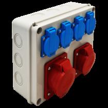Tracon Ipari elosztó doboz, TDB08-0M, védelem nélkül