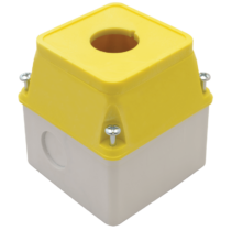 Tracon Összeállított alacsony tokozat sárga fedéllel, TK/T1+F2S/