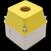 Tracon Összeáll. magas tok. vészgombo/kulcsos főkapcs.hoz, sárga f., TK/T2+F2S/
