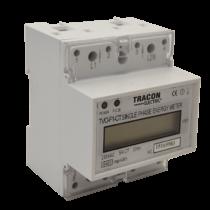 Tracon  TVO-F1-CT LCD kijelzésű egyfázisú áramváltós fogyasztásmérő