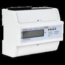 Tracon LCD kijelzésű fogyasztásmérő, közvetlen, 3 fázisú, 7 modul, TVOF37
