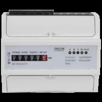 Tracon Elektromech. fogyasztásmérő, közvetlen, 3 fázisú, 7 modul, TVOF3M7