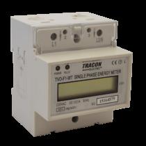 Tracon  TVO-F1-WT LCD kijelzésű 1 fázisú átfűzős fogyasztásmérő, közvetlen