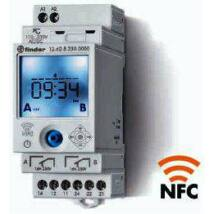Finder Elektronikus kapcsolóóra, 2 váltóérintkező, napi és heti program, 230 V
