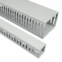 Kopos-Kolin, RK 50X50 HF LD, kábelcsatorna, Kopos-Kolin műanyag Perforált csatorna, 50X50mm, sötérszürke [RK 50X50 HF LD],