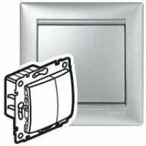 Legrand Valena nyomógombos fényerőszabályzó 40-400W izzó- és halogénlámpához, alumínium [770262]