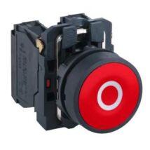 "Schneider Electric Komplett nyomógomb, piros, ""O"" jellel [XB5AA4322]"