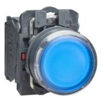 Schneider Electric LED-es világító nyomógomb, kék, 24V [XB5AW36B5]