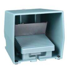 Schneider Electric Lábkapcsoló fém, kék, fedéllel, 2 NC + NO, 2 fokozat [XPEM711]