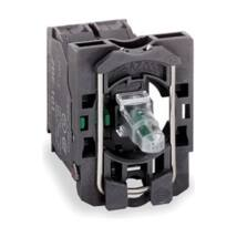 Schneider Electric LED-es világító nyomógomb aljzat, zöld, 110-120V AC 1NO [ZB5AW0G31]