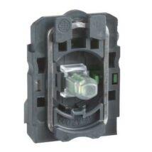Schneider Electric LED-es világító nyomógomb aljzat, zöld, 110-120V AC 2NO [ZB5AW0G33]