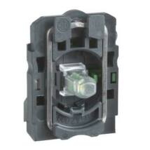 Schneider Electric LED-es világító nyomógomb aljzat, zöld, 230-240V AC 2NO [ZB5AW0M33]