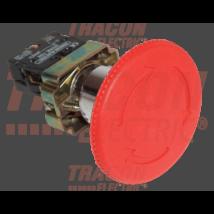 Tracon Tok.reteszelt gombafejű vészgomb, piros, sárga fed., elford. [NYG642P60TS]