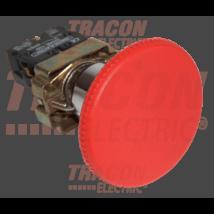 Tracon Tokozott gombafejű vészgomb, fémalap, piros sárga fedéllel [NYGBR42PTS]