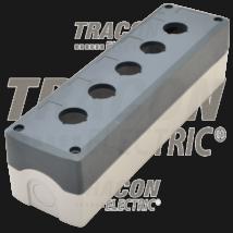 Tracon Összeállított tokozat nyomógombokhoz, szürke, 5-es [NYGD-5GR]