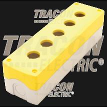 Tracon Összeállított tokozat nyomógombokhoz, sárga, 5-es [NYGD-5YE]