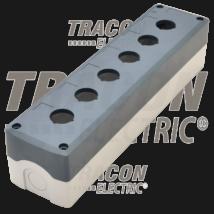 Tracon Összeállított tokozat nyomógombokhoz, szürke, 6-es [NYGD-6GR]