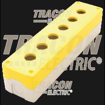 Tracon Összeállított tokozat nyomógombokhoz, sárga, 6-es [NYGD-6YE]