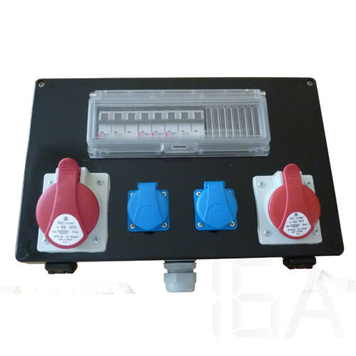 Csatári Plast ipari elosztó doboz, CSE 102, szerelt 2x230V+1x5P16A+1x5P32A+Km