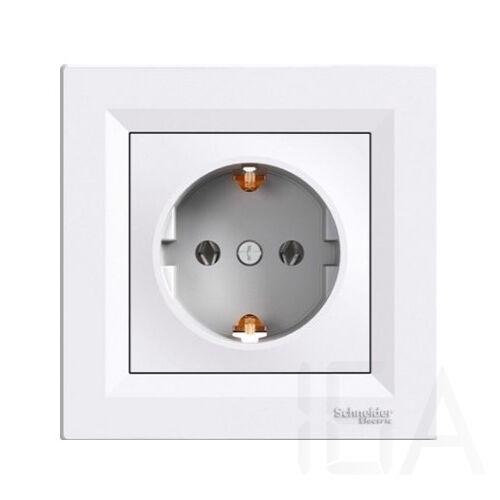 Schneider ASFORA 2P+F aljzat, csavaros bekötés, fehér, EPH2900121