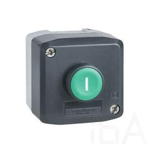 Schneider Tokozott nyomógomb zöld, XALD102