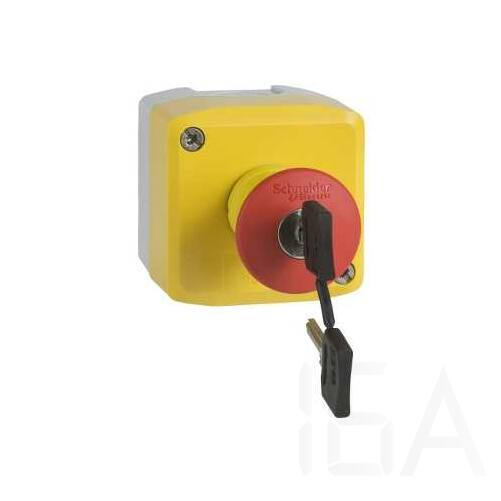 Schneider Tokozott nyomógomb, 1 kulcsos vészgomb, XALK188G