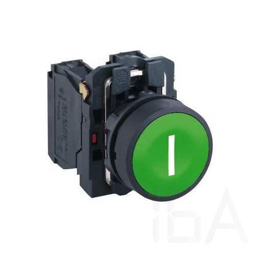 "Schneider Komplett nyomógomb, zöld, ""I"" jellel, XB5AA3311"