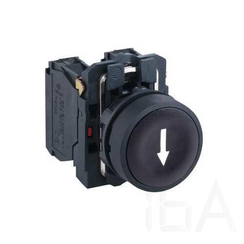 Schneider, nyomógomb, komplett, fekete, XB5AA3351