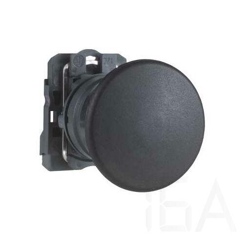 Schneider Komplett gombafejű nyomógomb fekete, XB5AC21