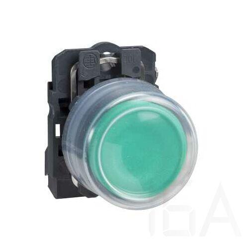Schneider Gumisapkás nyomógomb, zöld, XB5AP31