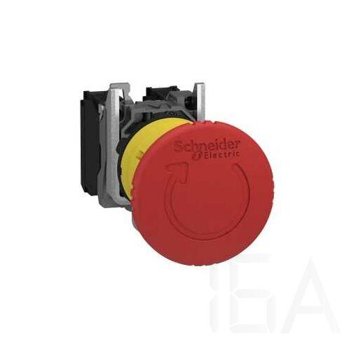 Schneider Komplett vészgomb, forgatós gomba, piros, TR 1NO + 1NC, XB5AS8445