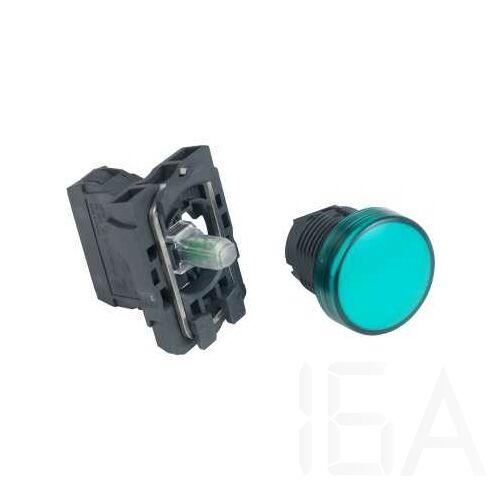 Schneider LED-es jelzőlámpa, zöld, 24V, XB5AVB3