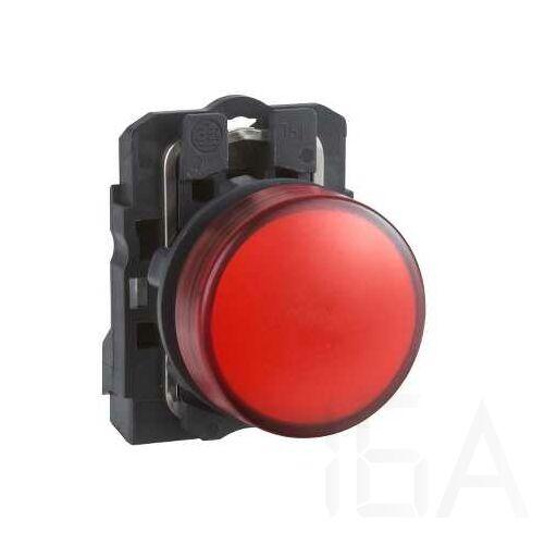 Schneider LED-es jelzőlámpa, piros, 24V, XB5AVB4
