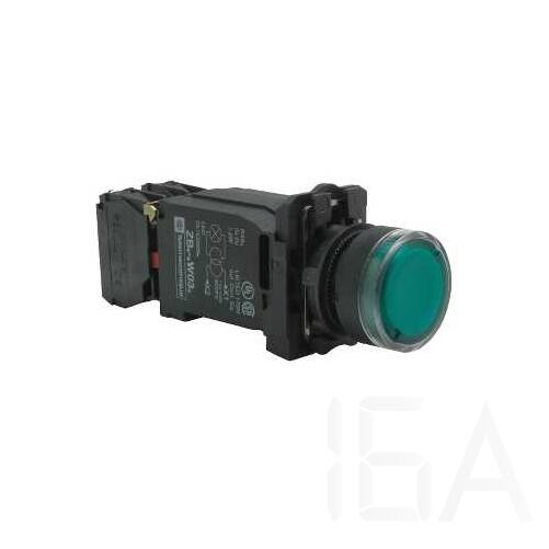 Schneider Világító nyomógomb + transzforátor, zöld, 220-240V, XB5AW3345