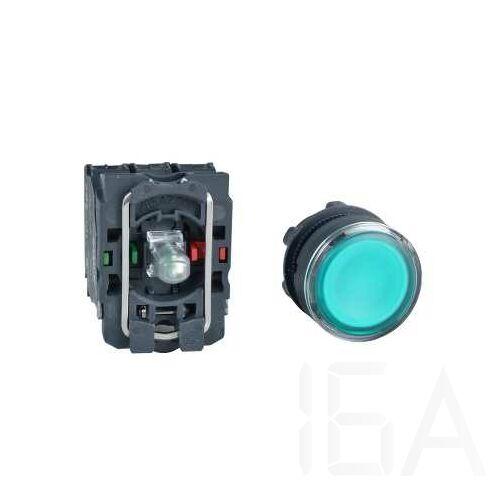 Schneider LED-es világító nyomógomb, zöld, 110-120V, XB5AW33G5