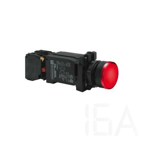 Schneider Világító nyomógomb + transzformátor, piros, 220-240V, XB5AW3445