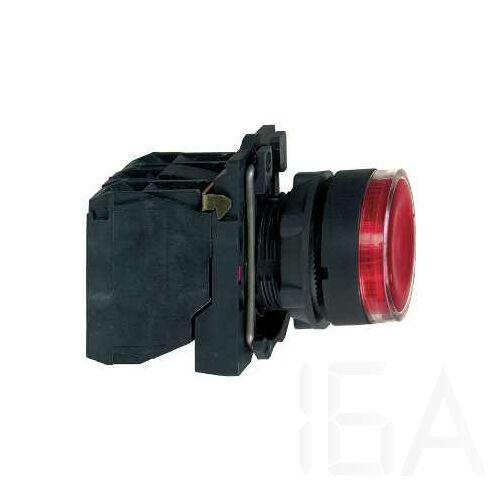 Schneider LED-es világító nyomógomb, piros, 24V, XB5AW34B5