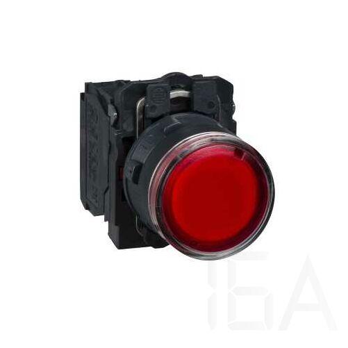 Schneider LED-es világító nyomógomb, piros, 230V, XB5AW34M5