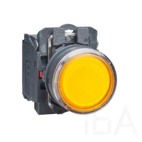 Schneider LED-es világító nyomógomb, narancssárga, 24V, XB5AW35B5