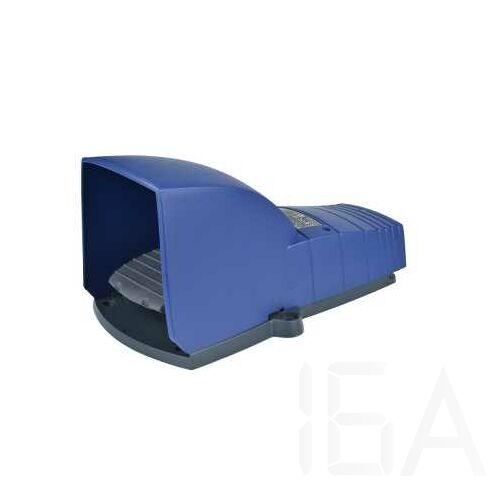 Schneider Lábkapcsoló IP66, műanyag, kék, fedéllel, 2NC+2NO, 2 lépés, XPEB711