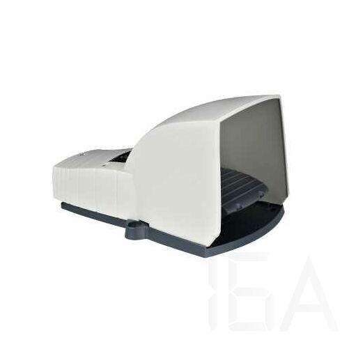 Schneider Lábkapcsoló IP66, műanyag, szürke, fedéllel, 1NC+1NO, 1 lépés, XPEG310